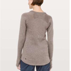 lululemon athletica Sweaters - Lululemon Sit in Lotus Heathered Cool Coco Sweater